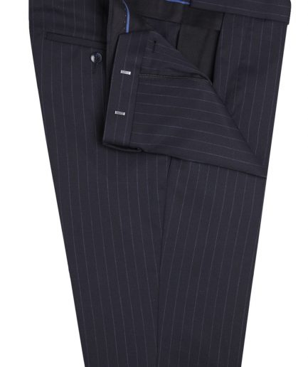 Handmade suit, stripe blue suit, double button suit bespoke maker in Lagos Nigeria Africa