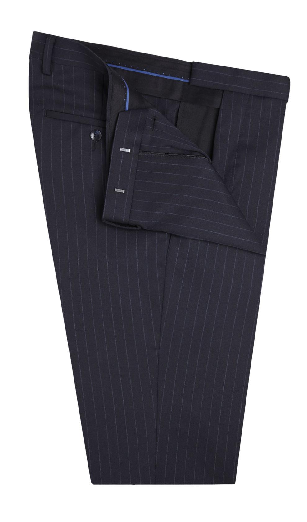 Handmade suit, stripe blue suit, double button suit bespoke maker in Lagos Nigeria Africa