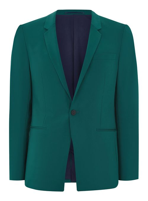 Tailored wedding Teal Ultra Skinny Suit
