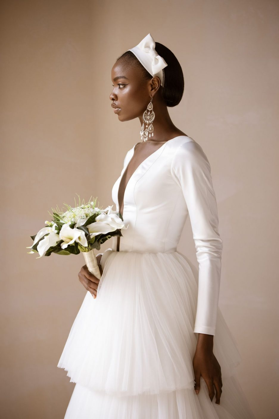 bespoke bridal suit and wedding gown